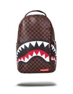 16774ed0b483 Sprayground Sleek Sharks In Paris 15 Inch Backpack Brown LV