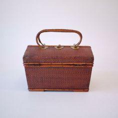 【旅茶籠】時代物 タイ製ヤンリパオ組手付籠 | タイ工藝ムラカ