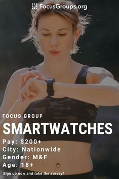 Online Focus Group for Fitness Enthusiasts on Smartwatches