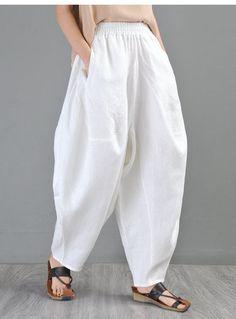 White Harem Pants, Yoga Harem Pants, Baggy Pants, Yoga Pants Outfit, Skirt Pants, Shorts, Trousers, Carnival Outfits, Vestidos