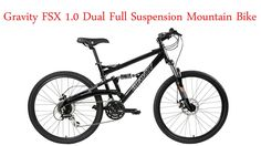 2018 Gravity FSX Dual Full Suspension Mountain Bike with Disc Brakes, Shimano Shifting (Black, - Easy to use, works great.This Gravity that is ranked Mountain Bike Prices, Mountain Bike Reviews, Best Mountain Bikes, Mountain Bike Shoes, Mountain Biking, Mountain Bicycle, Dual Suspension Mountain Bike, Full Suspension, Mtb