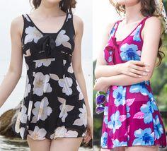 Ladies Swimwear One Piece Swimdress Tankini Aus Size 8 10 12 14 16 18 #7285
