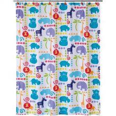 Hippo Silhouette Shower Curtain