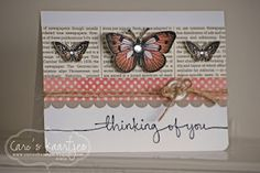 butterfly card by Caro. love the color combo too!