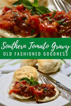 Often served on top of fluffy biscuits, and full of tomatoey goodness, this old-fashioned breakfast treat is the stuff legends are made of. Tomato gravy is thick and rich with chunks of tomatoes studded with bits of bacon, onion, and bell pepper, and doesn't bear any resemblance to the more traditional brown gravy. It's a perfect side dish to your dinners in Fall and also for Thanksgiving!