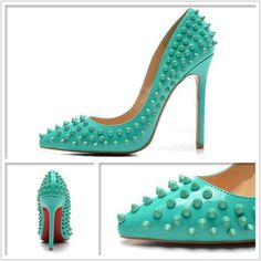 Turquoise Studded Rivets Shoes