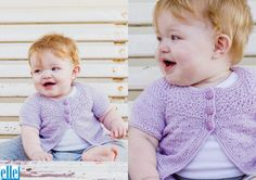 Short Sleeve Yoke Cardigan Brand: Elle Count: Double Knit Yarn: Babykins Size From: Birth Size To: 24 months Knitting For Kids, Double Knitting, Crochet For Kids, Baby Knitting Patterns, Baby Patterns, Knitting Yarn, Free Knitting, Short Sleeve Cardigan, Stockinette