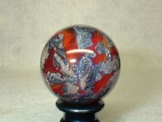 Willis Marbles Hot Ash Planet Handmade Marble | eBay