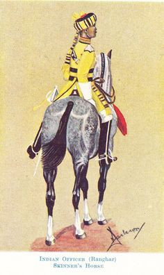 British; Skinner's Horse(1st Duke of York's Own Cavalry), Indian Officer(Ranghar), 1930s by Major Donovan Jackson