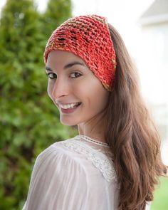 loom knit head wrap bandanna. Cotton head wrap perfect for summer. FREE PATTERN!