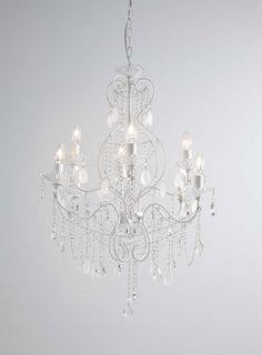 Lighting light fittings lamps for your home ms lounge white holly willoughby vintage chandelier bhs aloadofball Choice Image