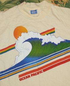 70s OP Ocean Pacific Rainbow Surf T-Shirt