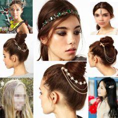 Women Fashion Metal Rhinestone Head Chain Jewelry Headband Head Piece Hair Band | eBay