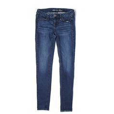 Pre-owned American Eagle Outfitters  Jeggings Size 2: Dark Blue... ($17) ❤ liked on Polyvore featuring pants, leggings, dark blue, blue jeggings, blue pants, blue trousers, jeggings pants and american eagle outfitters pants