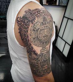 Aztec Tattoos Sleeve, Tribal Hand Tattoos, Mayan Tattoos, Hand Tattoos For Girls, Body Art Tattoos, Tattoos For Guys, Tatoos, Chicano Tattoos, Hand Tattoo Images