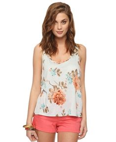 Relaxed Floral Tank  $10.50
