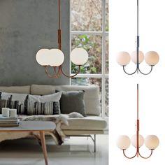 Herstal Ballon LED Lysekrone - Ballon er en av flere smarte vegglamper i klassisk design med dimbar varmhvit LED fra Herstal. Lampen kan dimmes fra 0-100%. Lysekronen har tre lekre 3-lags opale glasskupler som gjør at lyser slipper jevnt gjennom og ikke gir noen skygger i glasset. Ballon kommer i flere varianter i krom og kobber.