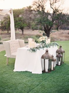 Brides: 6 Sweetheart Table Ideas Using Loveseats For Your Wedding Reception