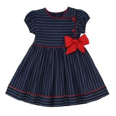 online shopping for Marakitas Toddler & Girl Party Special Occasion Short Sleeve Spring Sailor Dress Navy Blue from top store. See new offer for Marakitas Toddler & Girl Party Special Occasion Short Sleeve Spring Sailor Dress Navy Blue Baby Girl Frocks, Frocks For Girls, Little Girl Dresses, Girls Dresses, Trendy Dresses, Toddler Dress, Toddler Outfits, Kids Outfits, Toddler Girl