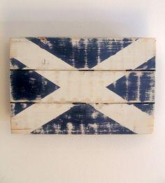 Scottish Flag Wood Art