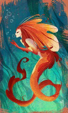 jigokuen:Sometimes, all I want to draw is a cheesy mermaid. :P http://jigokuen.blogspot.com