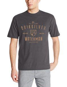 Quiksilver Waterman Men's Odyssea T-Shirt, Tarmac, Medium