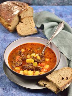 Pradobroty: Gulášová polévka Czech Recipes, Ethnic Recipes, Lidl, Thai Red Curry, Cooking, Health, Recipe Ideas, Soups, Diet