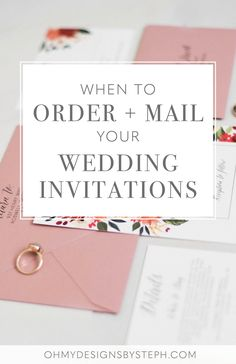 Wedding planning? Invitations sometimes become a last minute thought - make sure you leave enough time to order and mail your wedding invitations!  #weddingadvice #weddinginvitations