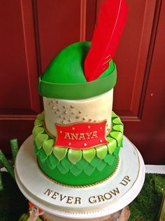 this Peter Pan themed cake would be perfect for a Peter Pan party! We're gearing up for the Music Circus production of PETER PAN July 21 - 26, 2015 at the Wells Fargo Pavilion. For tickets and info: http://www.californiamusicaltheatre.com/events/peterpan/