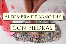 Alfombra DIY hecha con piedras / DIY rug made with stones