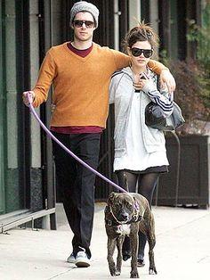 Rachel Bilson and Adam Brody with their Pit Bull :) #Celebrities #PitBull