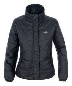 Black Insulated Puffer Jacket by Trespass #zulily #zulilyfinds