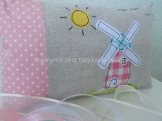 Windmill design lavender scented sleep pillow