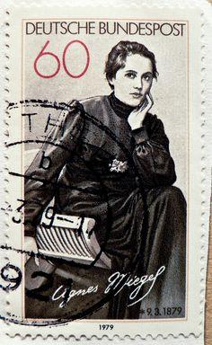stamp Germany 60 pf. Agnes Miegel 1879 1979 writer poet schriftsteller german stamps germany timbre allemagne selos alemanha sellos postzegels Duitsland francobolli Germany mapka | by stampolina