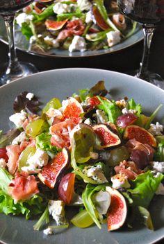 Salade automnale figues et prochiuto