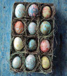 Ovos de Páscoa decorados com tinta | Eu Decoro