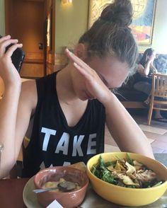Maddie at Panera Bread today. She went with her neighbour • #dancemoms…
