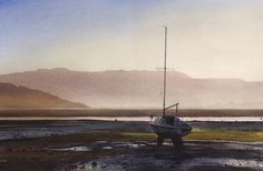 From Borth Y Gest, an original watercolour painting | Paintings by Welsh artist Rob Piercy