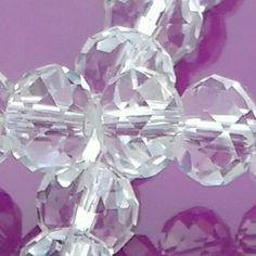 1 strand of 8mm clear Crystal Rondelles now available in my Etsy shop. Please take a look. Thanks Fiona