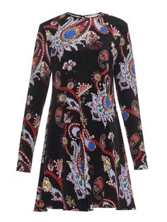 Mary Katrantzou Macbay Urdu paisley-print silk mini dress