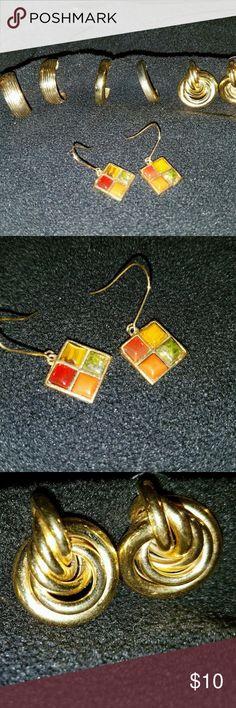 Costume jewelry Gold earrings lot #6 Costume jewelry Gold earrings lot #6 Unknown Jewelry Earrings