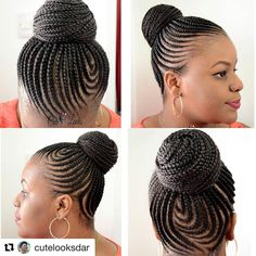 Yeboo all day . Braided Cornrow Hairstyles, Cornrow Ponytail, Black Hair Updo Hairstyles, Braided Hairstyles For Black Women, African Braids Hairstyles, Braids For Black Hair, Twist Hairstyles, Natural Hair Cornrow Styles, Gorgeous Hairstyles