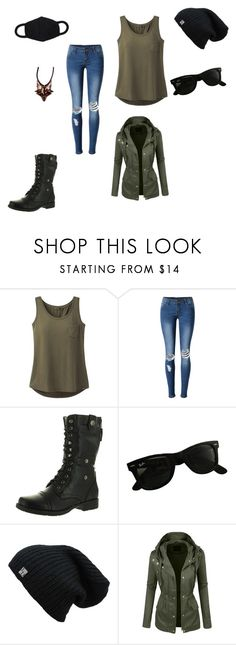 """Fnv"" by chibitesla on Polyvore featuring prAna, WithChic, Reneeze, Ray-Ban and LE3NO"