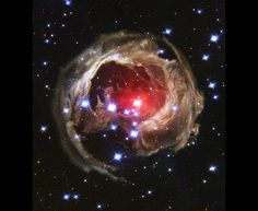 Google Earth  Variable Star V838 Monocerotis Light moves outwards from a stellar outburst, illuminating vast regions of usually invisible dust and gas