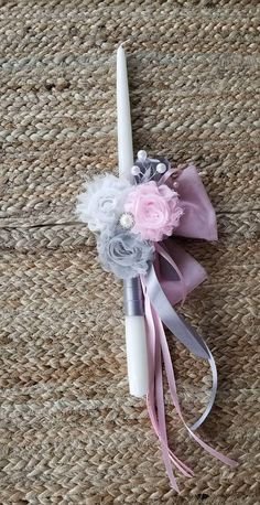 Shabby Chic Easter Lambada Candle This is a handmade anastasi candle is made with a 15 hand dipped candle. *** Please note I can ship your Easter candle directly to your godchild if you like. Please leave me a note that you would like to do this. Now if you are purchasing multiple