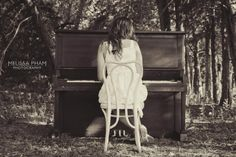 #piano#lady#photo#forest
