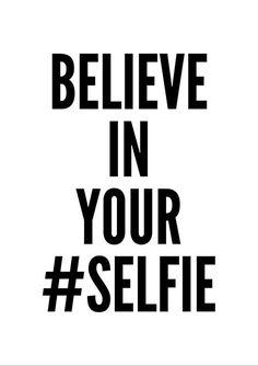 Selfie affiche art de la typographie décor mural par mottosprint