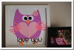 Handprint owl, so cute!