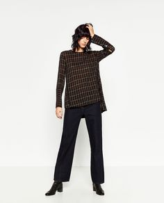 Image 1 of CHECKED TUNIC from Zara