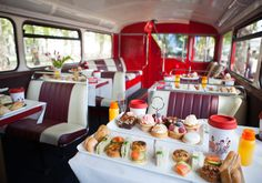 Afternoon Tea Bus Tour - a sightseeing bus tour around London on a vintage double decker bus while enjoying afternoon tea